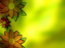 Fond fleuri de papier peint de vue de cadre Photo libre de droits