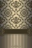 Fond fleuri de vintage avec les éléments décoratifs Photos libres de droits