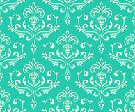 Fond fleuri sans joint floral classique. Image stock