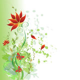 Fond floral illustration stock