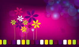 Fond floral abstrait élégant d'affaires illustration de vecteur