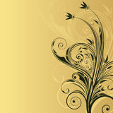Fond floral abstrait avec l'espace pour le texte Photo libre de droits