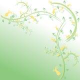 Fond floral abstrait avec la place pour le texte Illustration Stock