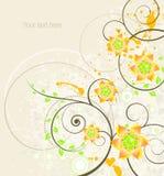 Fond floral abstrait avec la place pour le texte Image libre de droits