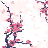 Fond floral abstrait avec sakura illustration stock