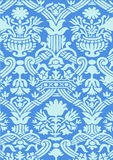Fond floral abstrait bleu de vintage de modèle Images stock