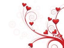 Fond floral abstrait d'amour illustration de vecteur