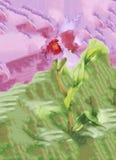 Fond floral abstrait d'aquarelle avec de belles fleurs colorées Photographie stock libre de droits