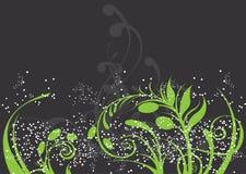 Fond floral abstrait en vert vibrant illustration libre de droits