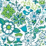 Fond floral abstrait, modèle sans couture de thème d'été, mur Photo libre de droits