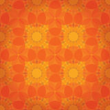 Fond floral abstrait orange Image libre de droits