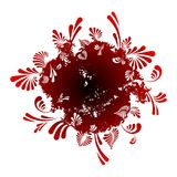 Fond floral abstrait rond Photos stock