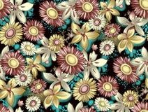 Fond floral antique sans couture de modèle de fleur illustration libre de droits
