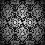 Fond floral argenté d'explosion Images libres de droits