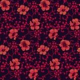 Fond floral audacieux de fleur de cru sans couture illustration libre de droits