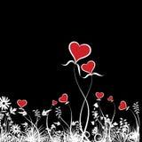 Fond floral avec des coeurs Photo libre de droits