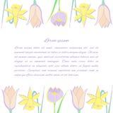Fond floral avec des fleurs de source illustration de vecteur