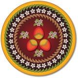 Fond floral avec des formes colorées Image libre de droits