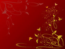 Fond floral avec des guindineaux Images libres de droits