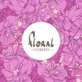Fond floral avec l'endroit pour l'inscription Images libres de droits