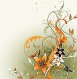 Fond floral avec l'espace pour le texte Photo stock