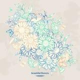 Fond floral avec la camomille illustration de vecteur