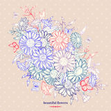 Fond floral avec la camomille illustration stock