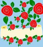 Fond floral avec le drapeau cr?me Photographie stock