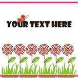 Fond floral avec le guindineau Image libre de droits