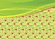 Fond floral avec les lignes abstraites Photographie stock libre de droits