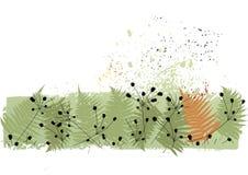 Fond floral avec un espace pour un texte. Vecteur Photo libre de droits