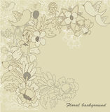 Fond floral beige Photos stock