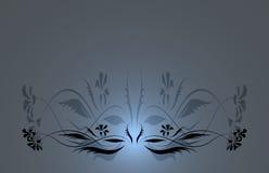 Fond floral bleu Illustration Libre de Droits