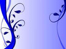Fond floral bleu Photographie stock libre de droits