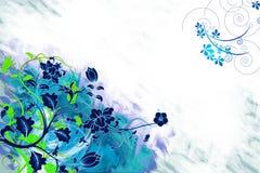 Fond floral bleu Photos stock