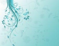 Fond floral bleu Photo libre de droits