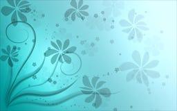 Fond floral bleu Photographie stock