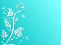 Fond floral bleu abstrait Photographie stock libre de droits