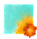 Fond floral bleu avec la fleur Photos libres de droits