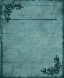 Fond floral bleu de grunge de coins Photographie stock