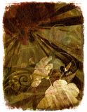 Fond floral - brun illustration de vecteur