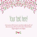 Fond floral Buisson floral de fleur d'aquarelle Carte de mariage Trame décorative florale Le printemps… a monté des feuilles, fon Photo stock