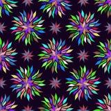 Fond floral coloré sans joint de configuration Texture d'arc-en-ciel pour le textile, papier peint, décoration, tissu, papier de  illustration stock