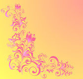 Fond floral décoratif Image libre de droits
