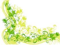 Fond floral décoratif, illustration de vecteur Photo stock