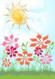 Fond floral d'été Image libre de droits