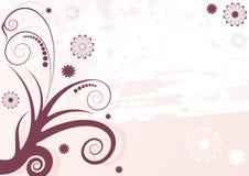 Fond floral d'abrégé sur grunge lilas Photos stock