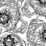 Fond floral d'album à damassé de cru Photographie stock libre de droits