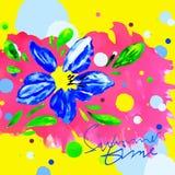Fond floral d'aquarelle d'heure d'été Images libres de droits