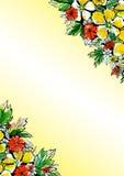 Fond floral d'aquarelle pour des cartes de voeux Photos libres de droits